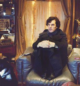 Sherlock watching telly